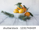 Tangerines Mandarin With Leave...