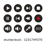 set of media player icon sign... | Shutterstock .eps vector #1231749370