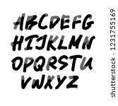 alphabet letters.black... | Shutterstock .eps vector #1231755169
