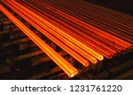 hot square steel bloom on the... | Shutterstock . vector #1231761220