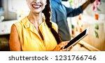 female business executive... | Shutterstock . vector #1231766746