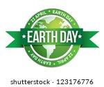 earth day written inside the...   Shutterstock . vector #123176776