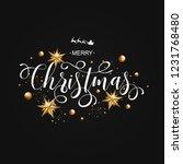 merry christmas calligraphic...   Shutterstock .eps vector #1231768480