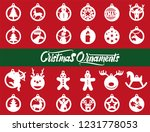 set of 24 different christmas... | Shutterstock .eps vector #1231778053
