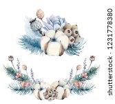 watercolor christmas set. it's...   Shutterstock . vector #1231778380