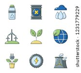 pure air icons set. flat set of ... | Shutterstock .eps vector #1231779229