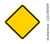 blank yellow road sign | Shutterstock .eps vector #1231785559
