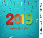 happy new year 2019. colorful... | Shutterstock . vector #1231803226
