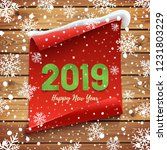 happy new year 2019 greeting... | Shutterstock . vector #1231803229