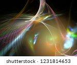 digital abstract fractal... | Shutterstock . vector #1231814653