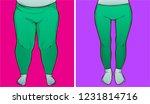 woman legs  before after.... | Shutterstock .eps vector #1231814716