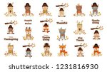 happy thanksgiving collection.  ... | Shutterstock .eps vector #1231816930