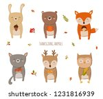 happy thanksgiving collection.... | Shutterstock .eps vector #1231816939