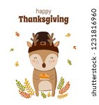 happy thanksgiving  greeting... | Shutterstock .eps vector #1231816960