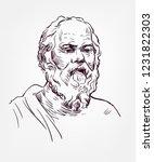 socrates sketch style vector... | Shutterstock .eps vector #1231822303