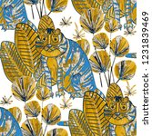 creative seamless pattern with... | Shutterstock . vector #1231839469