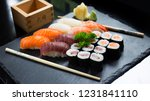 japanese sushi culture | Shutterstock . vector #1231841110