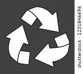 recycle logo vector isolated on ...