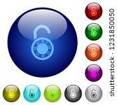 unlocked round combination lock ...   Shutterstock .eps vector #1231850050
