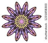 oriental mandala. vintage... | Shutterstock .eps vector #1231858303