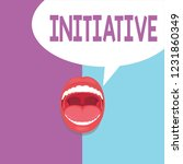 text sign showing initiative.... | Shutterstock . vector #1231860349