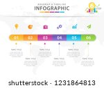 infographic template for... | Shutterstock .eps vector #1231864813