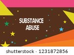 writing note showing substance... | Shutterstock . vector #1231872856
