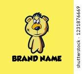 creative logo design bear child ... | Shutterstock .eps vector #1231876669