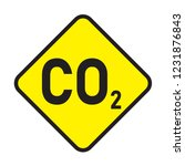 carbon dioxide  caution sign... | Shutterstock .eps vector #1231876843