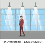 corridor building with...   Shutterstock .eps vector #1231893280