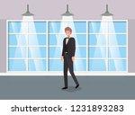 corridor building with...   Shutterstock .eps vector #1231893283