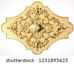 3d rendering beautiful golden... | Shutterstock . vector #1231895623
