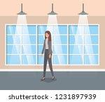 corridor building with...   Shutterstock .eps vector #1231897939