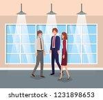 business people in corridor...   Shutterstock .eps vector #1231898653