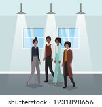 business people in corridor...   Shutterstock .eps vector #1231898656