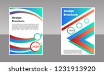 modern vector abstract brochure ...   Shutterstock .eps vector #1231913920