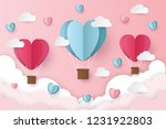 illustration of love and... | Shutterstock .eps vector #1231922803