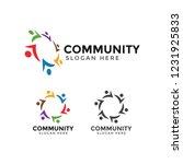 community people logo icon... | Shutterstock .eps vector #1231925833