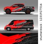 pick up truck and cargo van car ... | Shutterstock .eps vector #1231927516