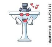 in love on bath room cartoon... | Shutterstock .eps vector #1231936516