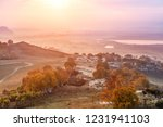 autumn grazing scenery on... | Shutterstock . vector #1231941103