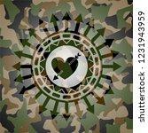 heart with arrow icon inside... | Shutterstock .eps vector #1231943959