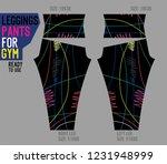 leggings pants for gym | Shutterstock .eps vector #1231948999