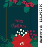 merry christmas greeting card.... | Shutterstock .eps vector #1231952530