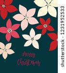 merry christmas greeting card.... | Shutterstock .eps vector #1231952533