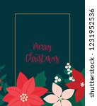 merry christmas greeting card.... | Shutterstock .eps vector #1231952536