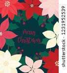 merry christmas greeting card.... | Shutterstock .eps vector #1231952539