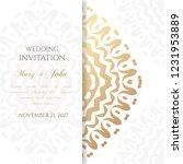 wedding invitation templates.... | Shutterstock .eps vector #1231953889