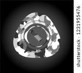 pencil icon inside grey... | Shutterstock .eps vector #1231955476