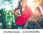 young asian men and women are... | Shutterstock . vector #1231960396